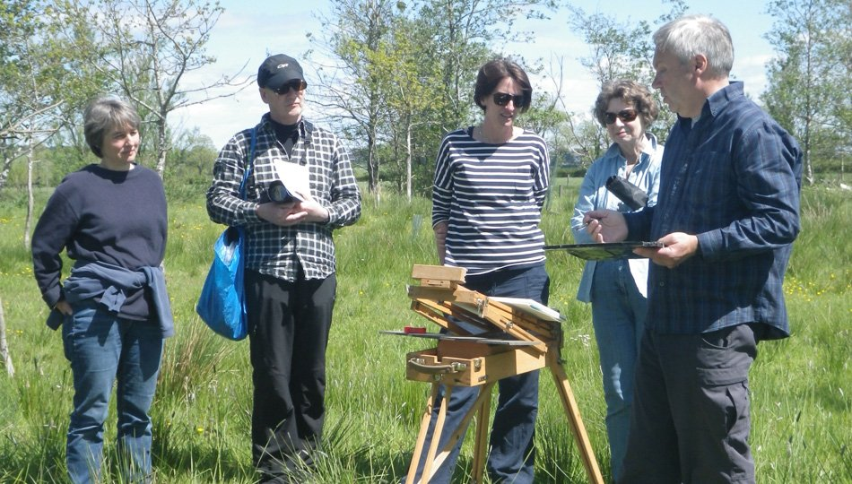 Darren Rees of the West Moss-side Collective sharing his love of plein air painting