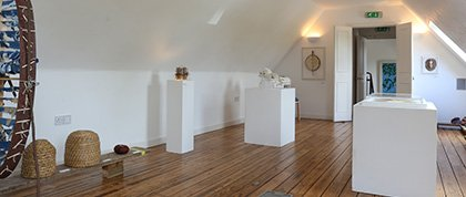 The hayloft as a gallery for Forth Valley Art Beat