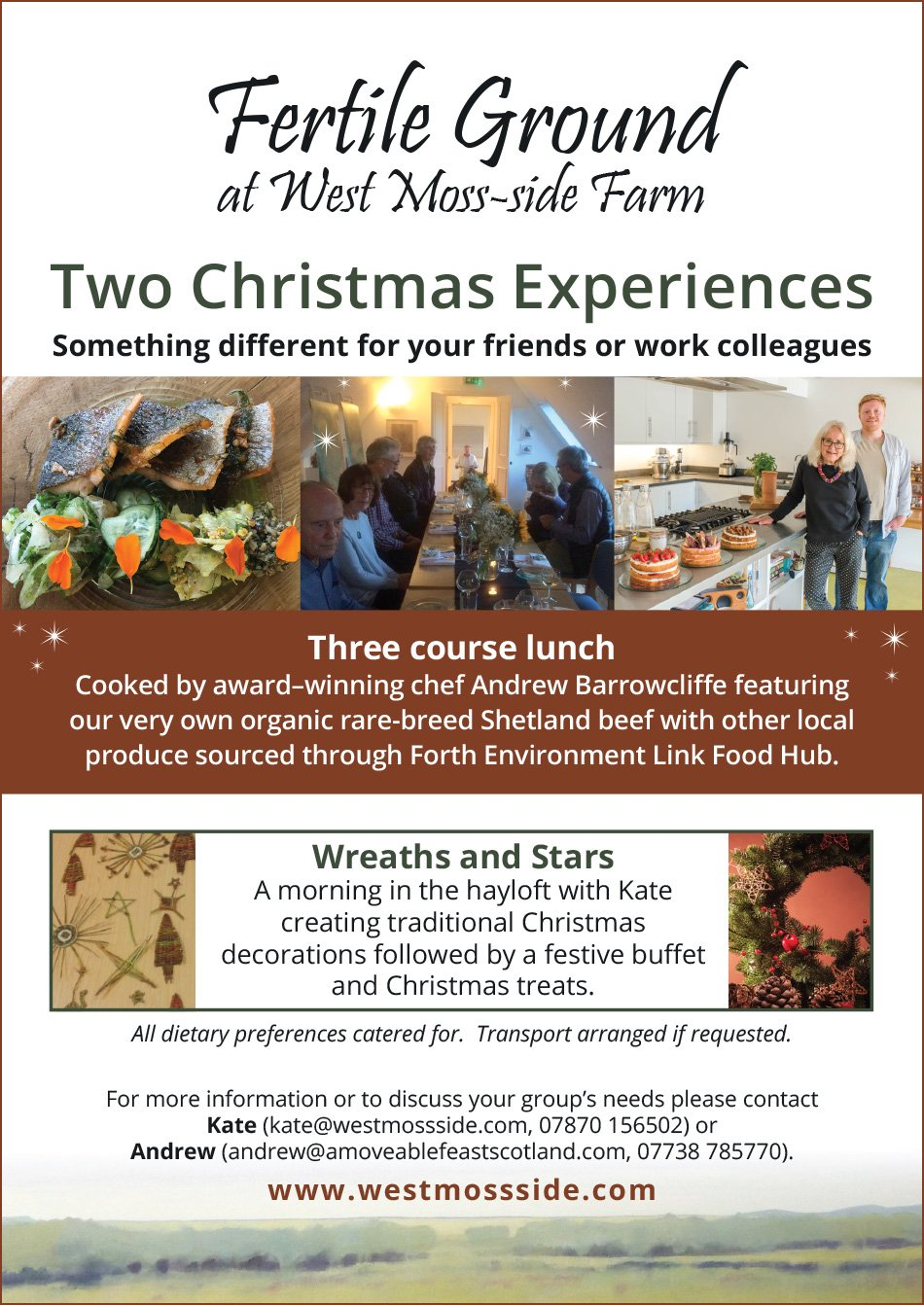 Christmas Experiences with Fertile Ground at West Moss-side Farm