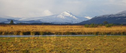 Looking west across Flanders Moss to the magnificent Ben Lomond