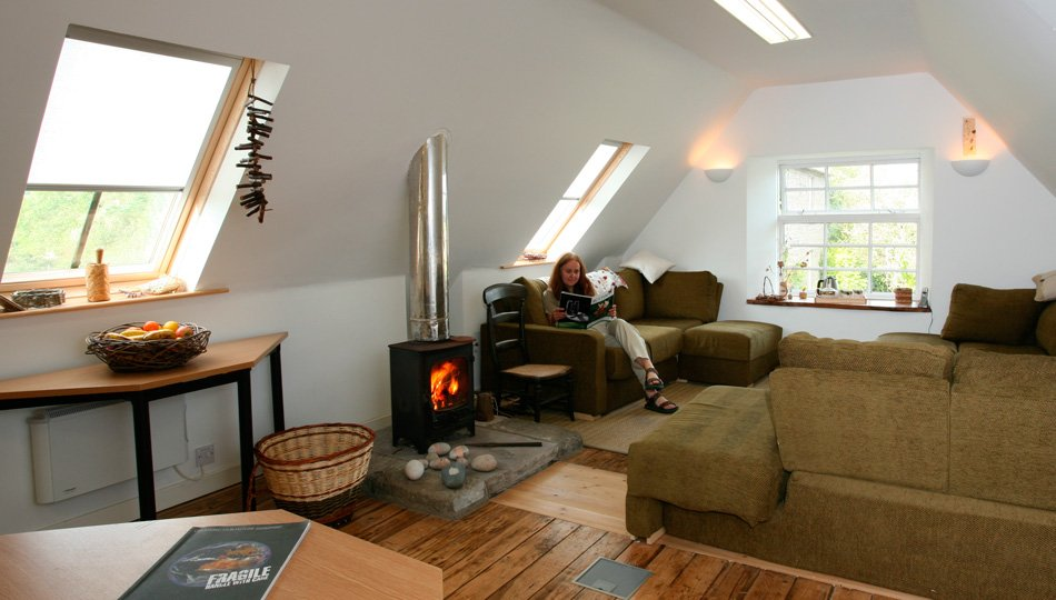 A perfect environment for study in comfort in the Hayloft at West Moss-side